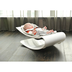 Bloom Coco Plexistyle Baby Bouncer - Black Plexi Frame / Gala Green