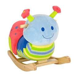 Animal Alley 21 inch Snail Rocker - Blue, Red, and Green