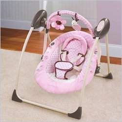 Summer Infant Love Bug Cuddle Me Travel Swing in Pink