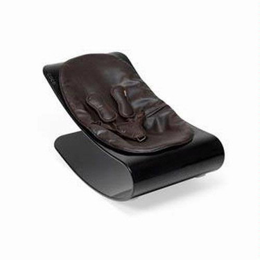 Coco Bloom Plexistyle Black Frame Baby Lounger - Henna Brown Seat Pad