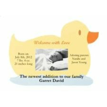 Wilton Duck Announcement Magnets Print Your Own