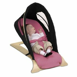 Babys World Bouncer-Chocolate/Lavender
