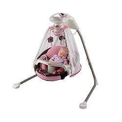 Fisher-Price Starlight Papasan Cradle Swing - Cocoa/Pink
