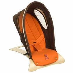 Babys World Bouncer-color:Chocolate/Orange