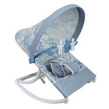 Infant Rocker - color: Blue Toile