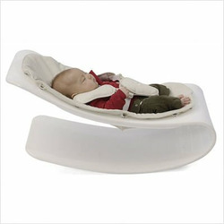 coco plexistyle baby lounger - Black Frame - Rock Red