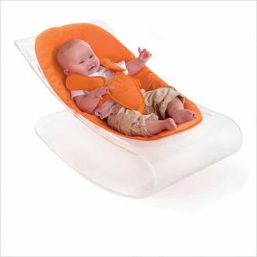 coco plexistyle baby lounger - White Frame - Harvest Orange