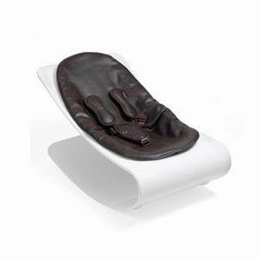 Coco Bloom Plexistyle White Frame Baby Lounger - Henna Brown Seat Pad
