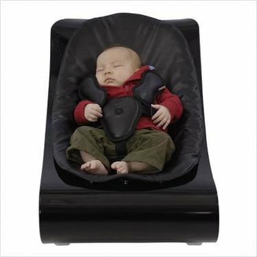 coco plexistyle baby lounger - Black Frame - Harvest Orange