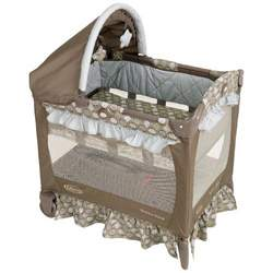 Graco Travel Lite Crib Playard, Barcelona Bluegrass