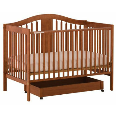 Stork Craft Chelsea 4-in-1 Stages Fixed Side Crib, Cognac
