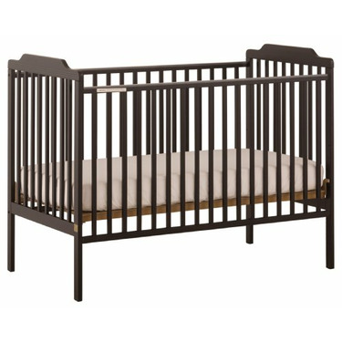 Stork Craft Lauren Fixed Side Crib, Black
