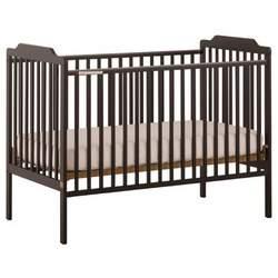 Stork Craft Lauren Fixed Side Crib, Black