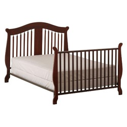 Stork Craft Aspen Stages Fixed Side Crib, Cherry