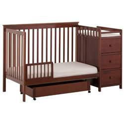 Stork Craft Madison Stages Crib with Trundle, Cognac