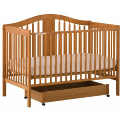 Stork Craft Chelsea 4-in-1 Stages Fixed Side Crib, Oak