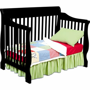 Delta Childrens Products Canton 4 in 1 Convertible Crib, Black
