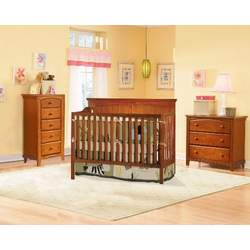First Choice Cape Cod II 4 in 1 Convertible Crib, Cherry