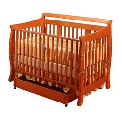 Stork Craft Heather Stages Fixed Side Crib, Cognac