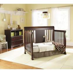 Chelsea 4-in-1 Convertible Baby Crib in Cherry by Nursery Smart