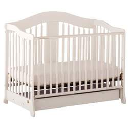 Stork Craft Rochester Stages Fixed Side Crib, White