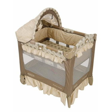 Graco Travel Lite Crib with Bassinet, Marlowe