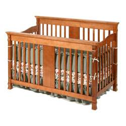 StorkCraft Ariel Stages 2-in-1 Convertible Crib, Cognac