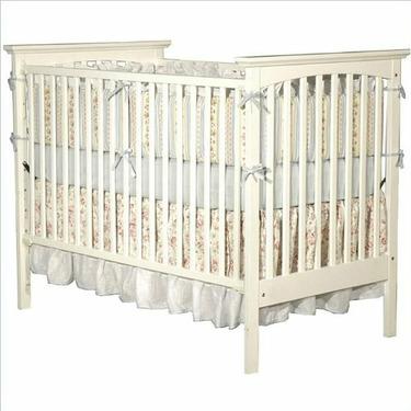 Child Craft Falls Village Transitional Stationary Convertible Crib, Matte White