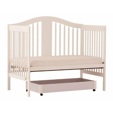 Stork Craft Chelsea Stages 4-in-1 Crib with Drawer, White