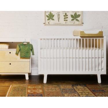 Oeuf Eco-friendly Sparrow Crib, White