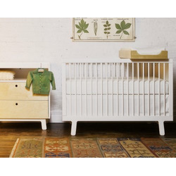 Oeuf Eco-friendly Sparrow Crib, White