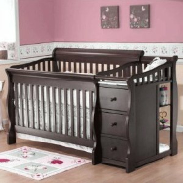 Sorelle Tuscany More 4-in-1 Convertible Crib and Changer Set in Espresso Finish