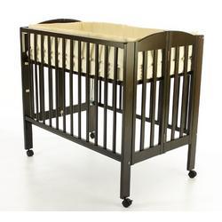 Dream On Me 3 in 1 Portable Folding Stationary Side Crib, Espresso