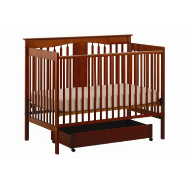 Stork Craft Lily 4-in-1 Stages Fixed Side Crib, Cognac