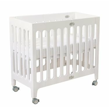 Alma Urban Folding Cot Crib in Coconut White