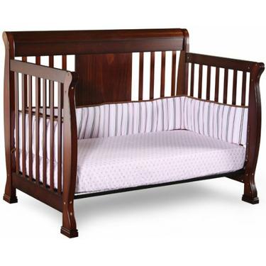 Chelsea 4-in-1 Convertible Baby Crib in Mocha by Nursery Smart