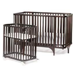 Argington Organic Bam Crib/Bassinet Set, Ebony