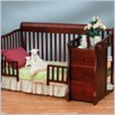 Sorelle Tuscany More 4-in-1 Convertible Crib and Changer Set in Cherry
