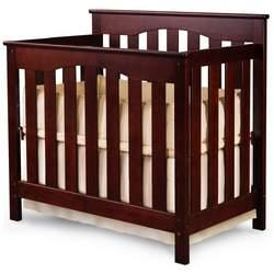 Ethan Mini Crib 2-in-1 Convertible in Mocha By Nursery Smart