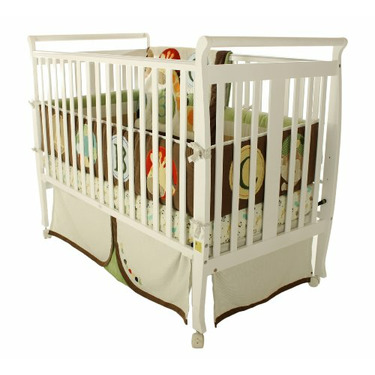 Dream On Me Bella 2 in 1 Convertible Sleigh Stationary Side Crib, White