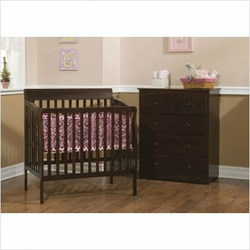 Delta Children's Products Riley Mini Crib - Chocolate