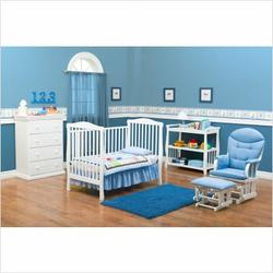 Delta Children's Products Tyson Convertible Crib in Classic White
