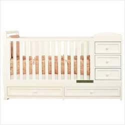 Athena Daphne I Convertible Crib and Changer Combo in White