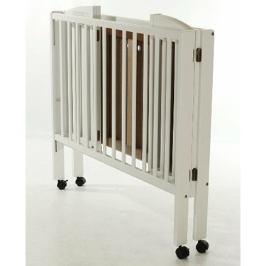Dream On Me 2 in 1 Lightweight Folding Portable Stationary Side Crib, White