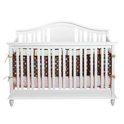 BSF Baby 4 in 1 Addison Crib - White