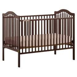 Stork Craft Sandra Fixed Side Crib, Cherry