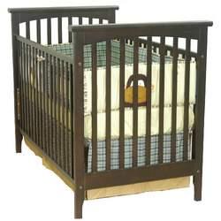Child Craft Brook Bridge Stationary Crib, Dark Alder