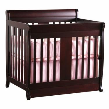 Chelsea Mini Crib 2-in-1 Convertible in Cherry By Nursery Smart