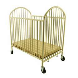Dream On Me Ready to Use Portable Folding Crib, Metalic