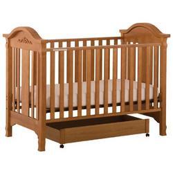 Stork Craft Angelina 3-in-1 Fixed Side Crib, Oak